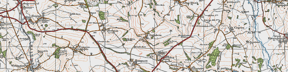 Old map of Leygore Manor in 1919