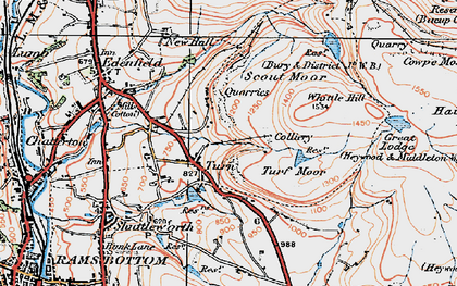 Old map of Whittle Hill in 1924