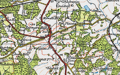 Old map of Turners Hill in 1920