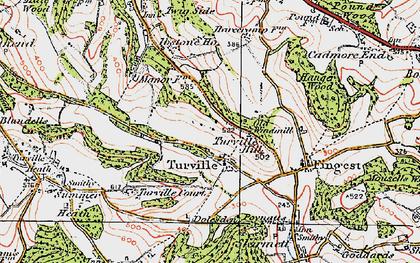 Old map of Ashfield Barn in 1919