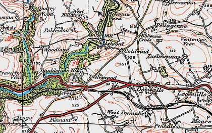 Old map of Ashford Br in 1919