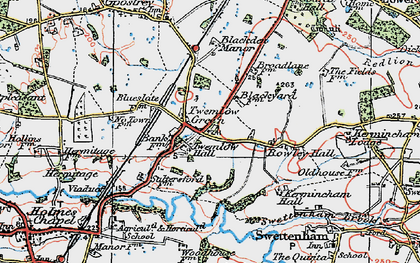 Old map of Twemlow Green in 1923