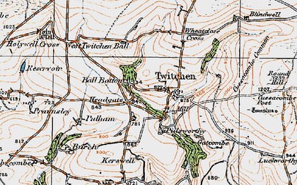 Old map of Badgercombe in 1919