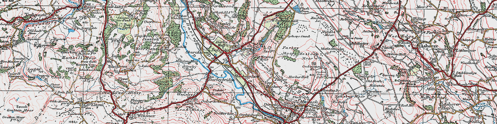 Old map of Two Dales in 1923