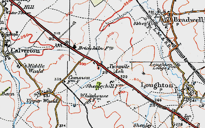 Old map of Two Mile Ash in 1919