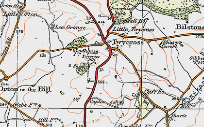 Old map of Twycross in 1921