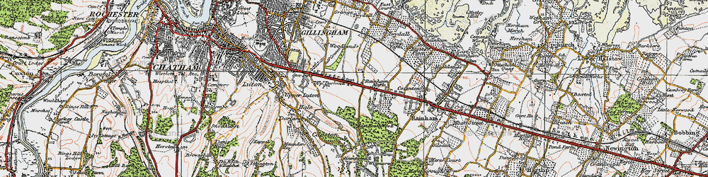 Old map of Ambley Wood in 1921