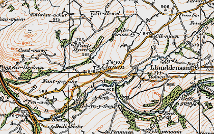 Old map of Tir-Howel in 1923