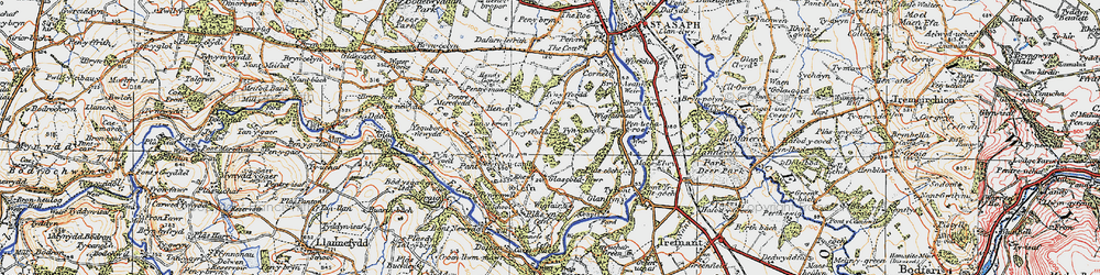 Old map of Wigfair in 1922