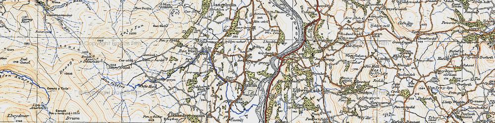 Old map of Ty'n-y-groes in 1922