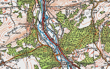 Old map of Ty Rhiw in 1919