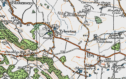 Old map of Tyberton in 1920