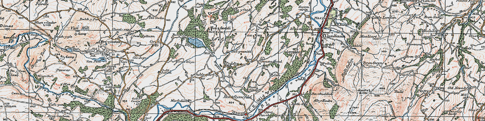 Old map of Wigdawr in 1921