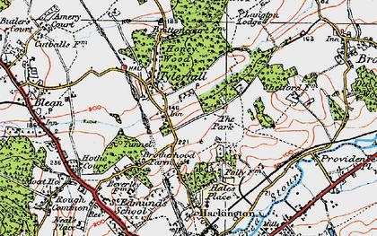 Old map of Allcroft Grange in 1920
