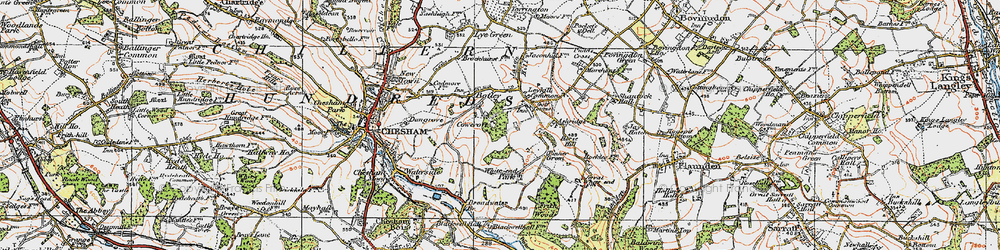 Old map of White End Park in 1920