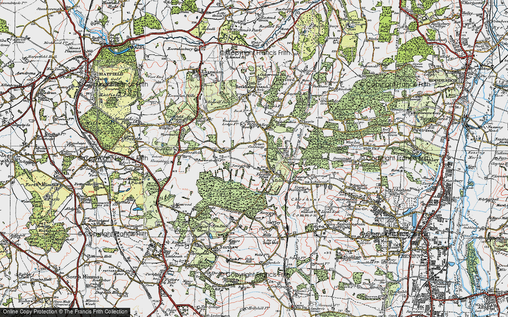 Old Map of Tylers Causeway, 1920 in 1920