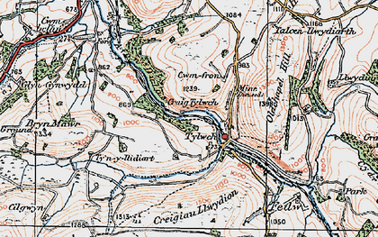 Old map of Banhadlog Hall in 1922