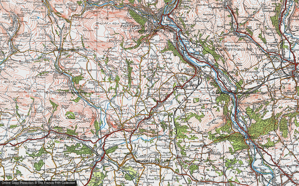 Old Map of Tynant, 1922 in 1922