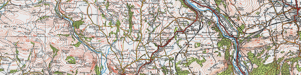 Old map of Tynant in 1922