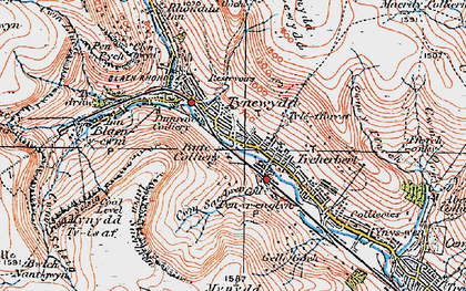Old map of Tynewydd in 1923