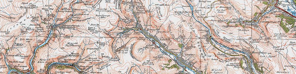 Old map of Tynewydd in 1923