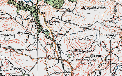 Old map of Ynys-Morgan in 1922