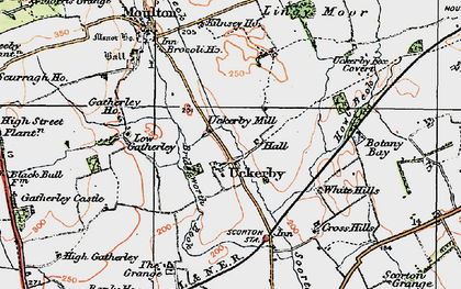 Old map of Lingy Moor in 1925