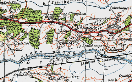 Old map of Udimore in 1921