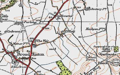 Old map of Barbury Hill in 1919