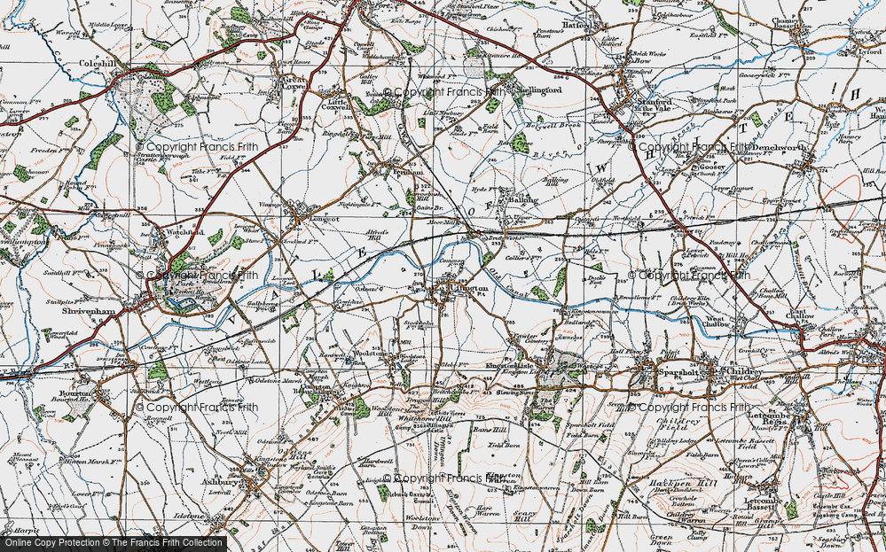 Old Map of Uffington, 1919 in 1919