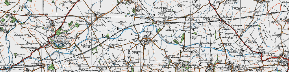 Old map of Uffington in 1919
