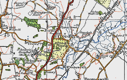 Old map of Ufford in 1921