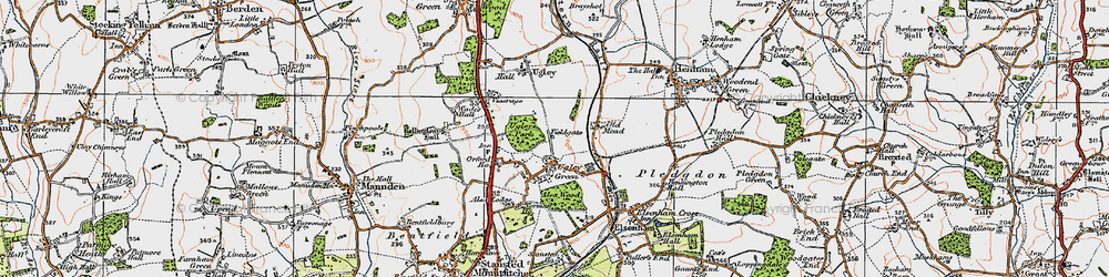 Old map of Alsa Lodge in 1919