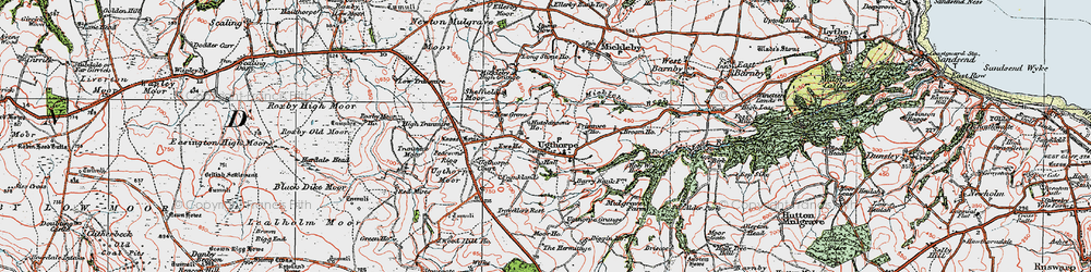 Old map of Wilks Rigg in 1925