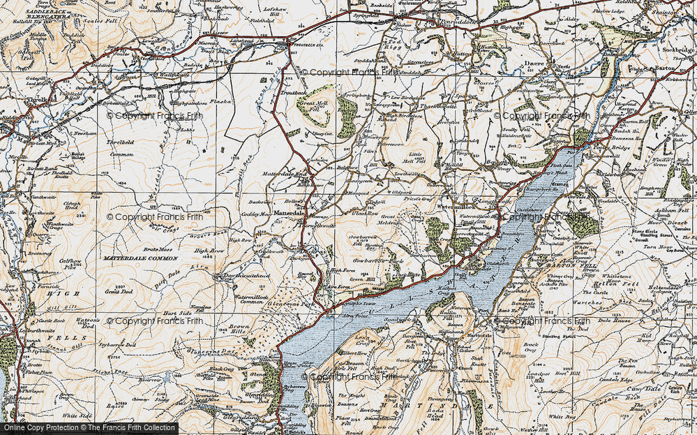 Old Map of Historic Map covering Todgill in 1925