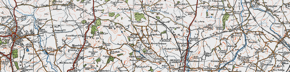 Old map of Ullenhall in 1919