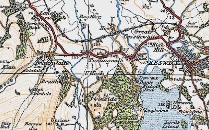Old map of Ullock in 1925