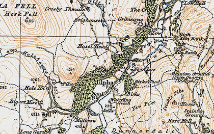Old map of Whistling Green in 1925