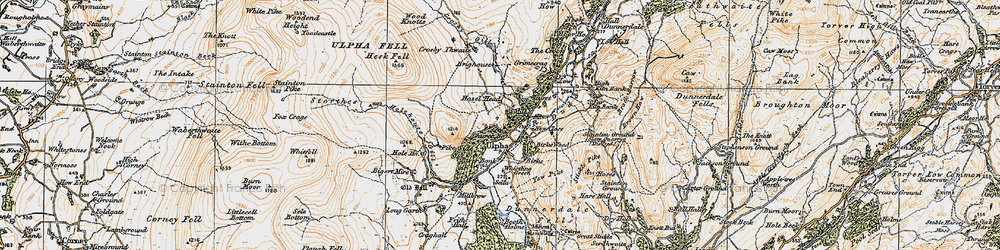Old map of Yew Pike in 1925