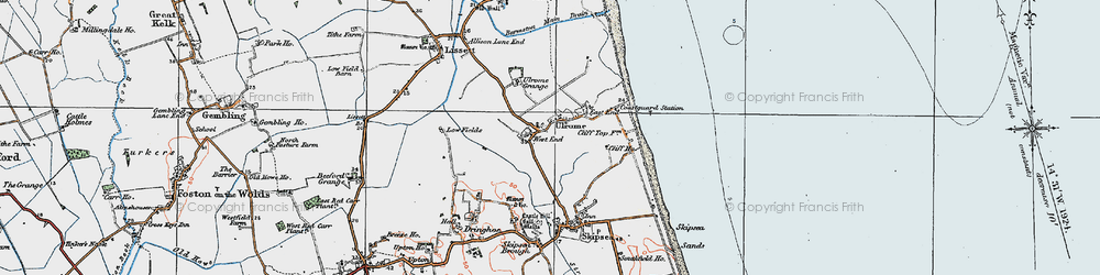 Old map of Ulrome in 1924