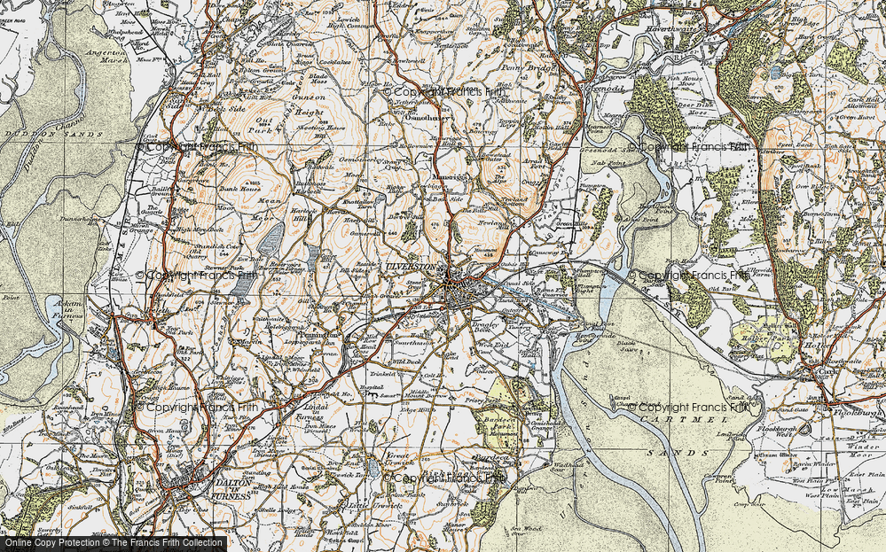 Old Map of Historic Map covering Levy Beck in 1925