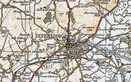 Old map of Levy Beck in 1925
