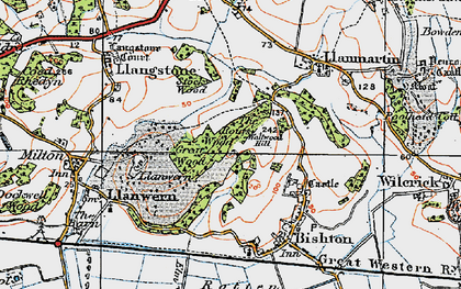Old map of Underwood in 1919