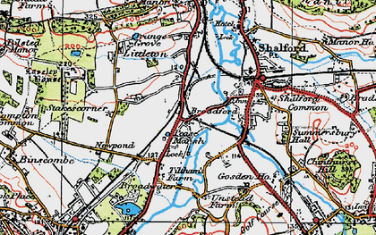 Old map of Unstead in 1920