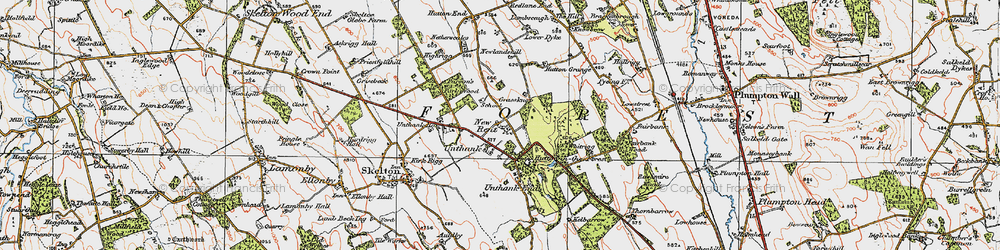 Old map of Whitrigg in 1925