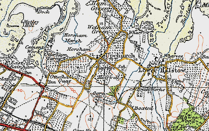 Old map of Upchurch in 1921