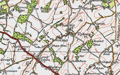 Old map of White Hills in 1919