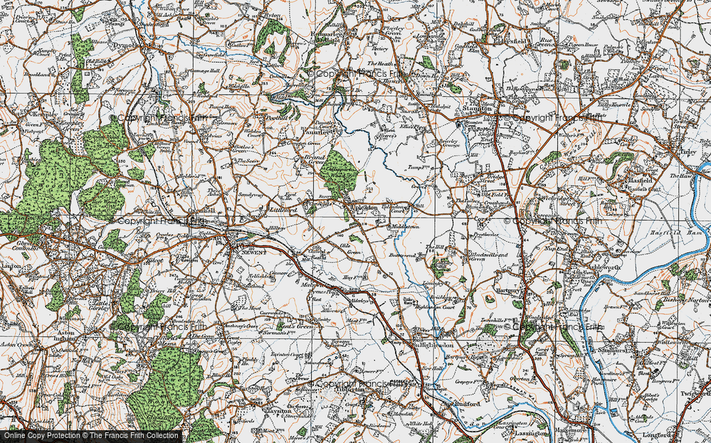 Old Map of Upleadon, 1919 in 1919