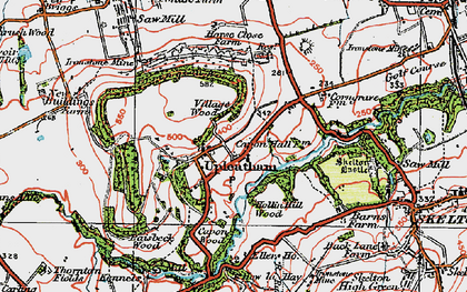 Old map of Upleatham in 1925