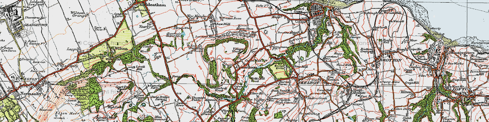 Old map of Tocketts Mill in 1925